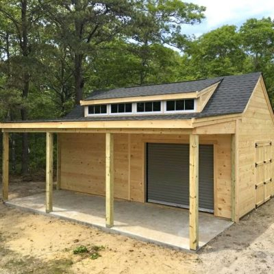 #33 (14' x 20' Pine Custom Shed With 8' Front Overhang)