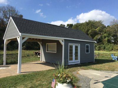 #50 (12' x 16' Vinyl Custom Shed With 14' Gable Overhang)