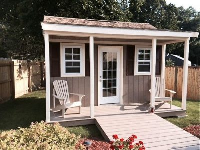 #48 (8' x 14' LP SmartSide Custom Shed With 4' Front Overhang)