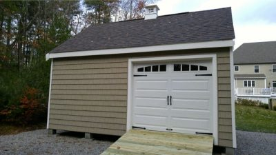 #39 (16' x 20' Vinyl Shakes Custom Shed With 12' Shed Dormer)