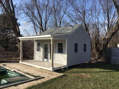 #23 (16' x 16' Vinyl Custom Shed With 6' Front Overhang)