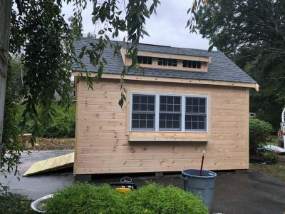 #42 (12' x 16' Pine Custom Shed With 8' Shed Dormer)
