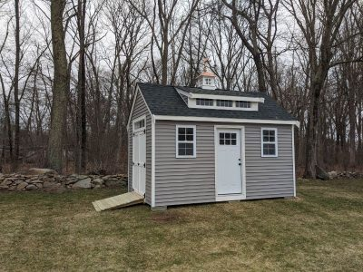 #14 (10' x 16' Vinyl Custom Shed With 8' Shed Dormer)