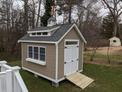 #3 (10' x 14' Vinyl Custom Shed With 8' Shed Dormer)